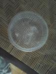 Wadah biskuit bundar satu lubang tampak atas